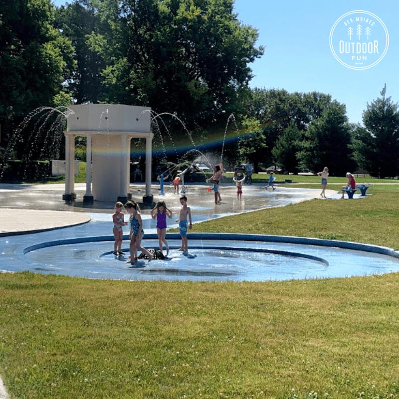 Tower Park, Sprayground, Des Moines, Iowa, Des Moines Parks