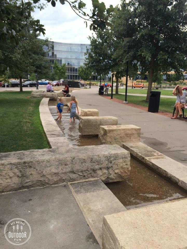Runnel Water Feature downtown des moines water fountain