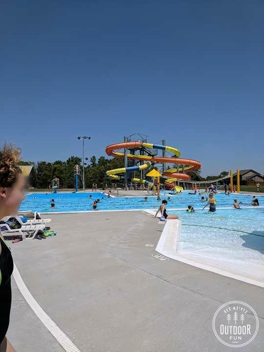 adel aquatic center slide