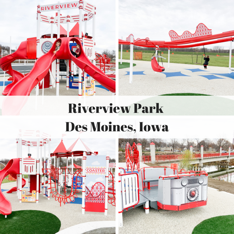 Riverview Park, Des Moines, Iowa, all inclusive playground, inclusive