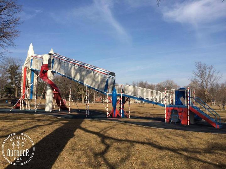 rocket slide union park des moines iowa