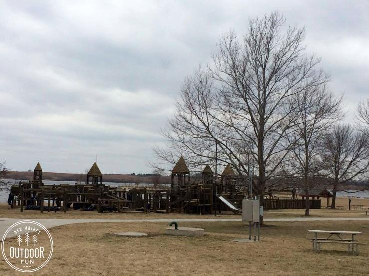 wooden playground in des moines iowa
