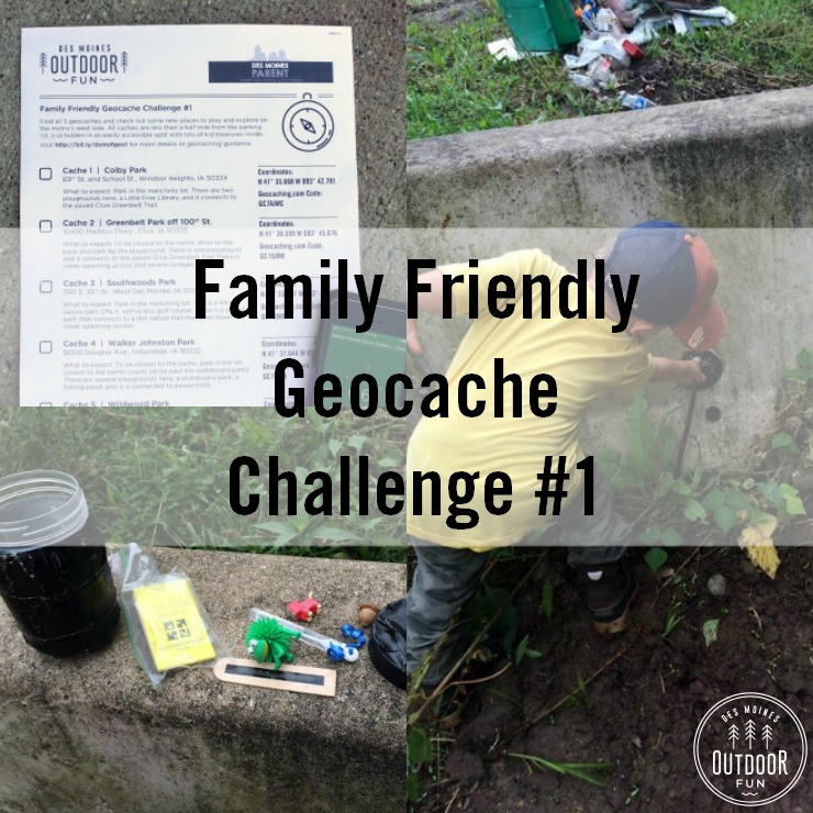 family friendly geocaches in des moines iowa