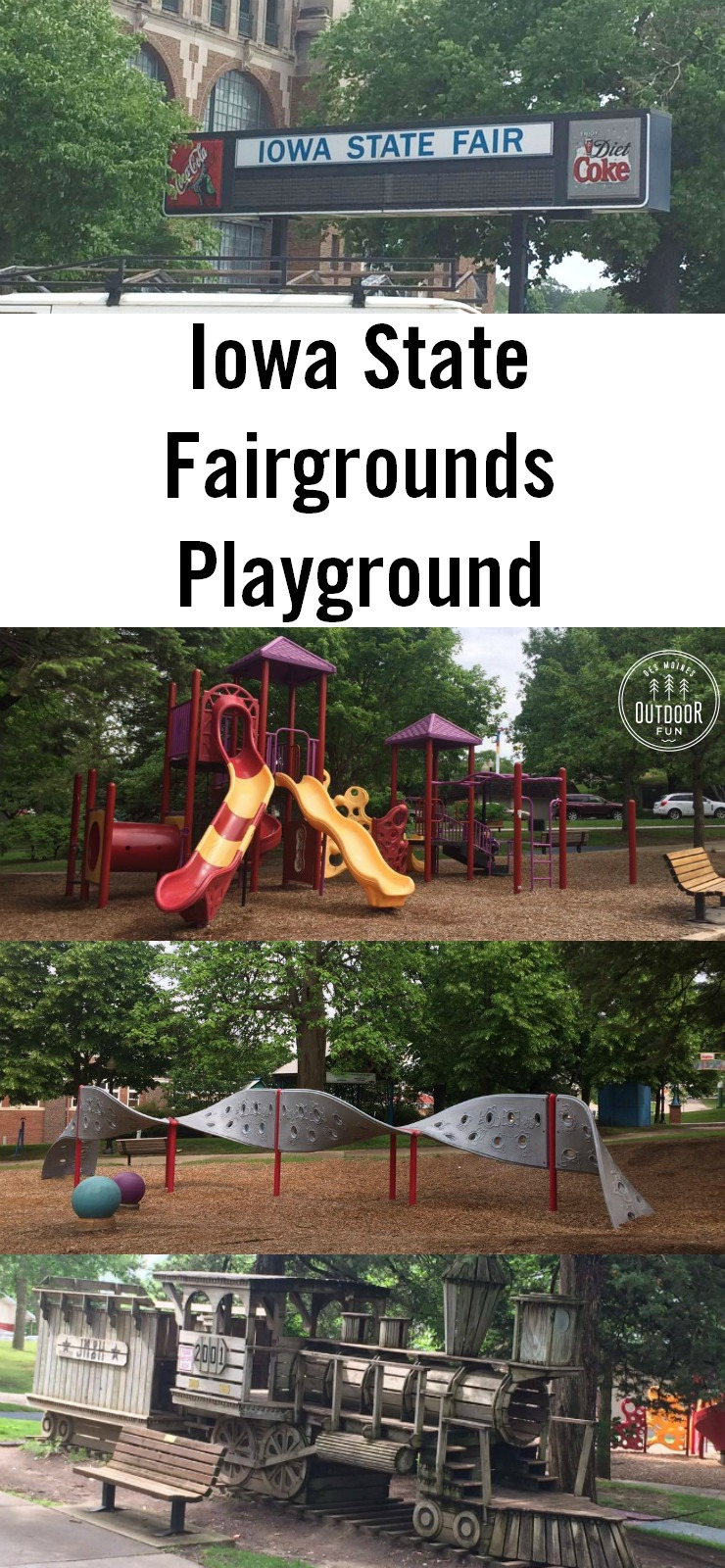 Come see the playground at the Iowa State Fairgrounds! Open year round; this is a great place for kids to play at the Iowa State Fair.
