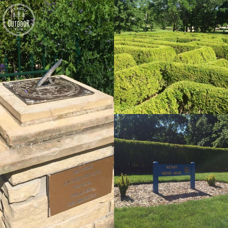 winterset city park hedge maze iowa