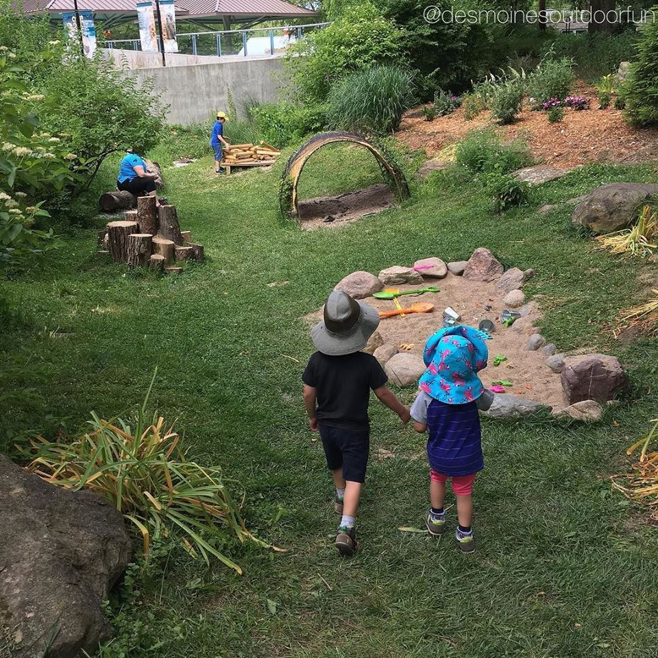 natural playscape at blank park zoo
