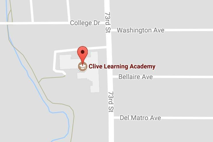 creek splashing behind clive elementary