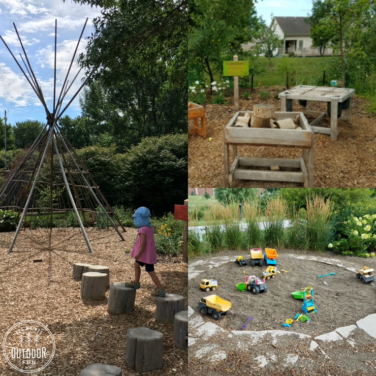 natural playscape at the enabling garden altoona iowa
