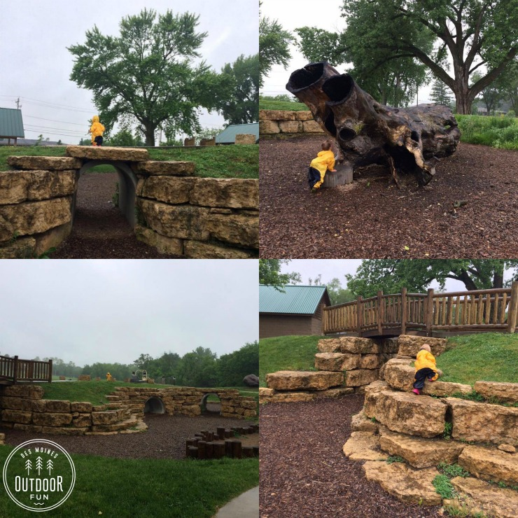 sargent park natural playscape des moines iowa