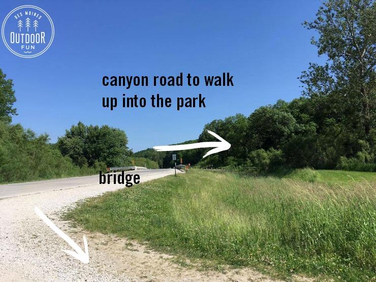 where to park ledges canyon road boone iowa