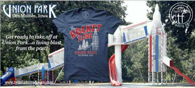union park rocket slide des moines iowa