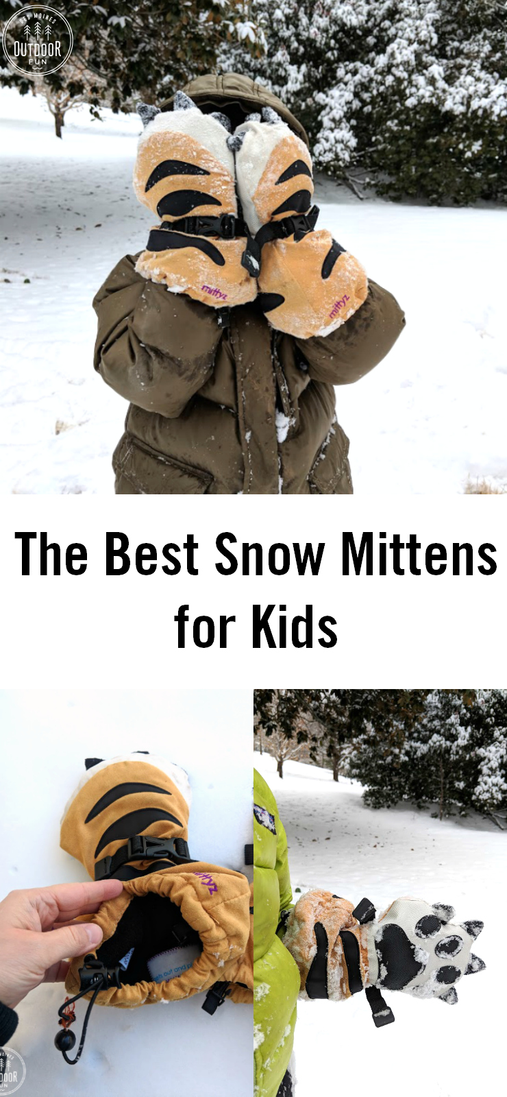 Always wishing you had snow mittens that stay on? Check out these amazing, super warm mittens. Not a sponsored post - we have used them for the past year and loved these! The best snow mittens for kids - review of Mittyz from Veyo Kids. #outdoorkids #kidsmittens #wintergear