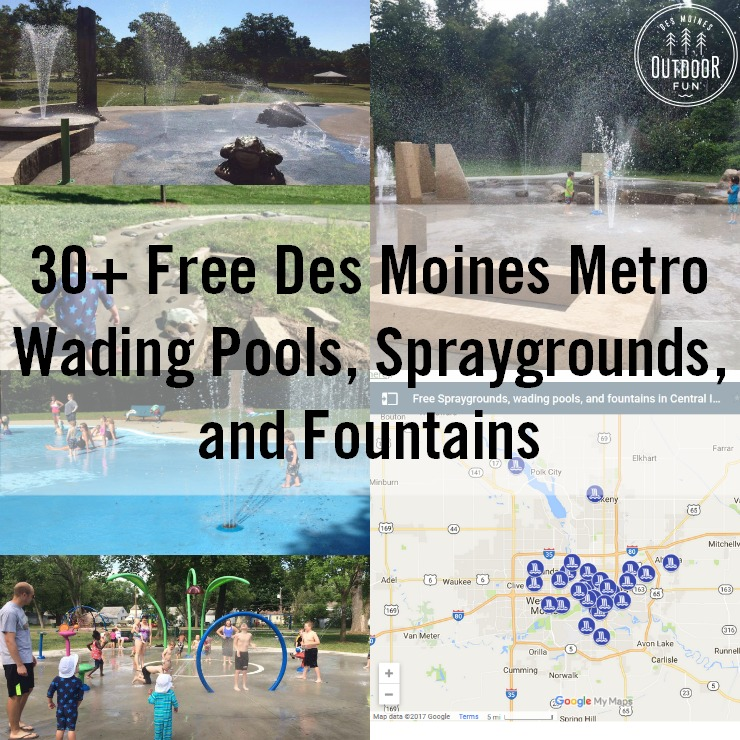 A List Of Over 30 Free Spraygrounds, Wading Pools, And Fountains In Des Moines. Includes Surrounding Suburbs And Cities Like Ankeny, Urbandale, West Des Moines, Altoona, And More.