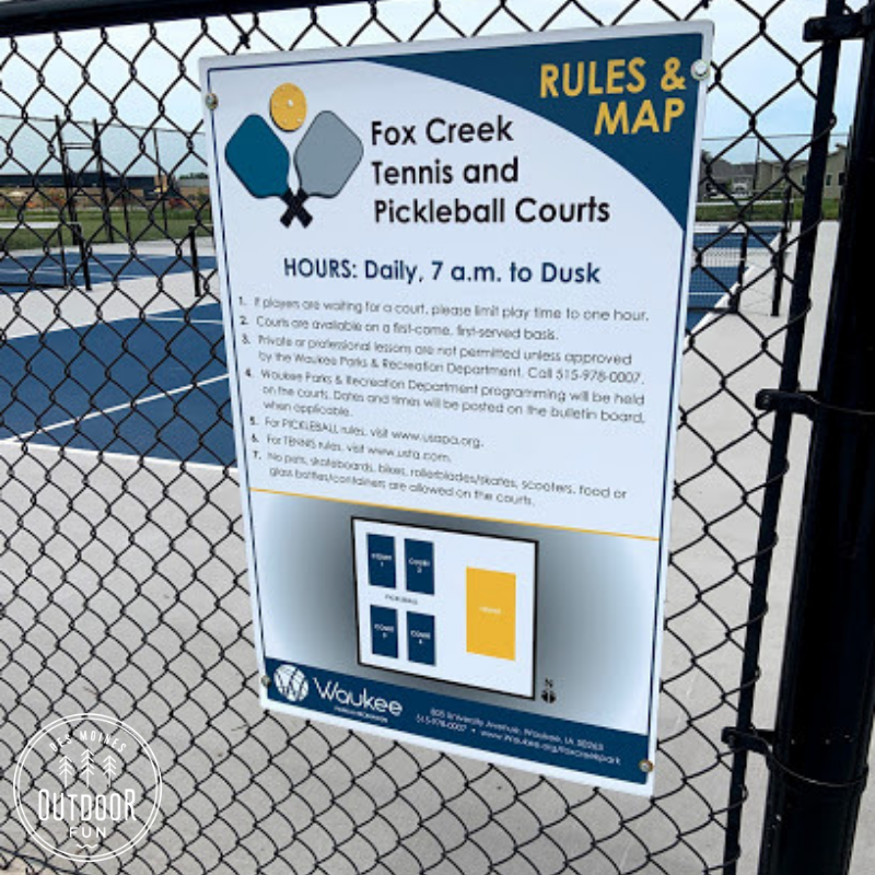 Fox Creek Splash Pad, Fox Creek Park, Waukee, Iowa, Des Moines, Park, pickleball