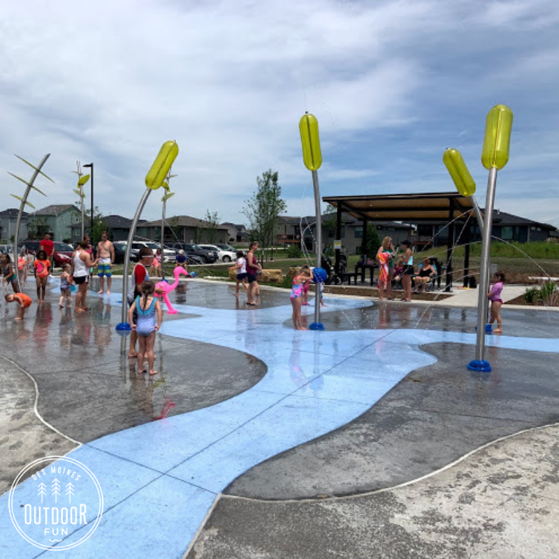 Fox Creek Splash Pad, Fox Creek Park, Waukee, Iowa, parks, Des Moines