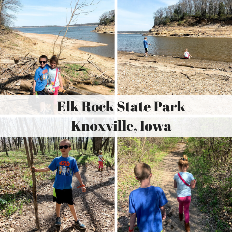 Red Rock Lake, Elk Rock State Park, Knoxville, Iowa, hiking in Iowa,