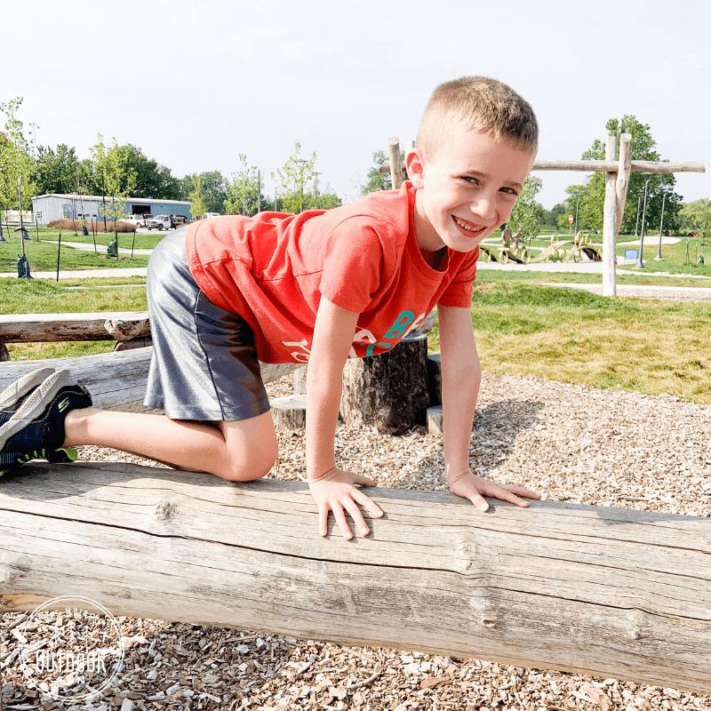 Reichardt Family Natural Play Area, Water Works Park, Des Moines, Iowa, parks
