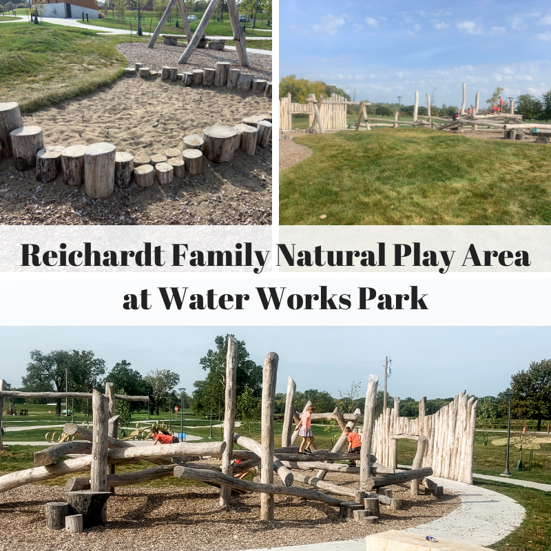 Reichardt Family Natural Play Area, Water Works Park, Des Moines, Iowa, parks