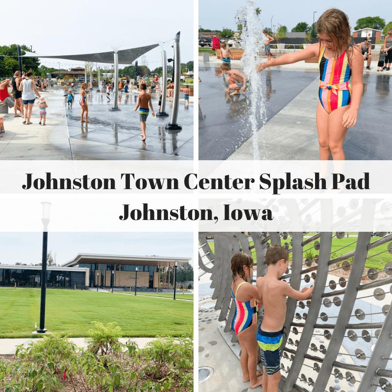 Johnston, Iowa, Des Moines, Johnston Town Center, splash pad, ice skating rink, parks